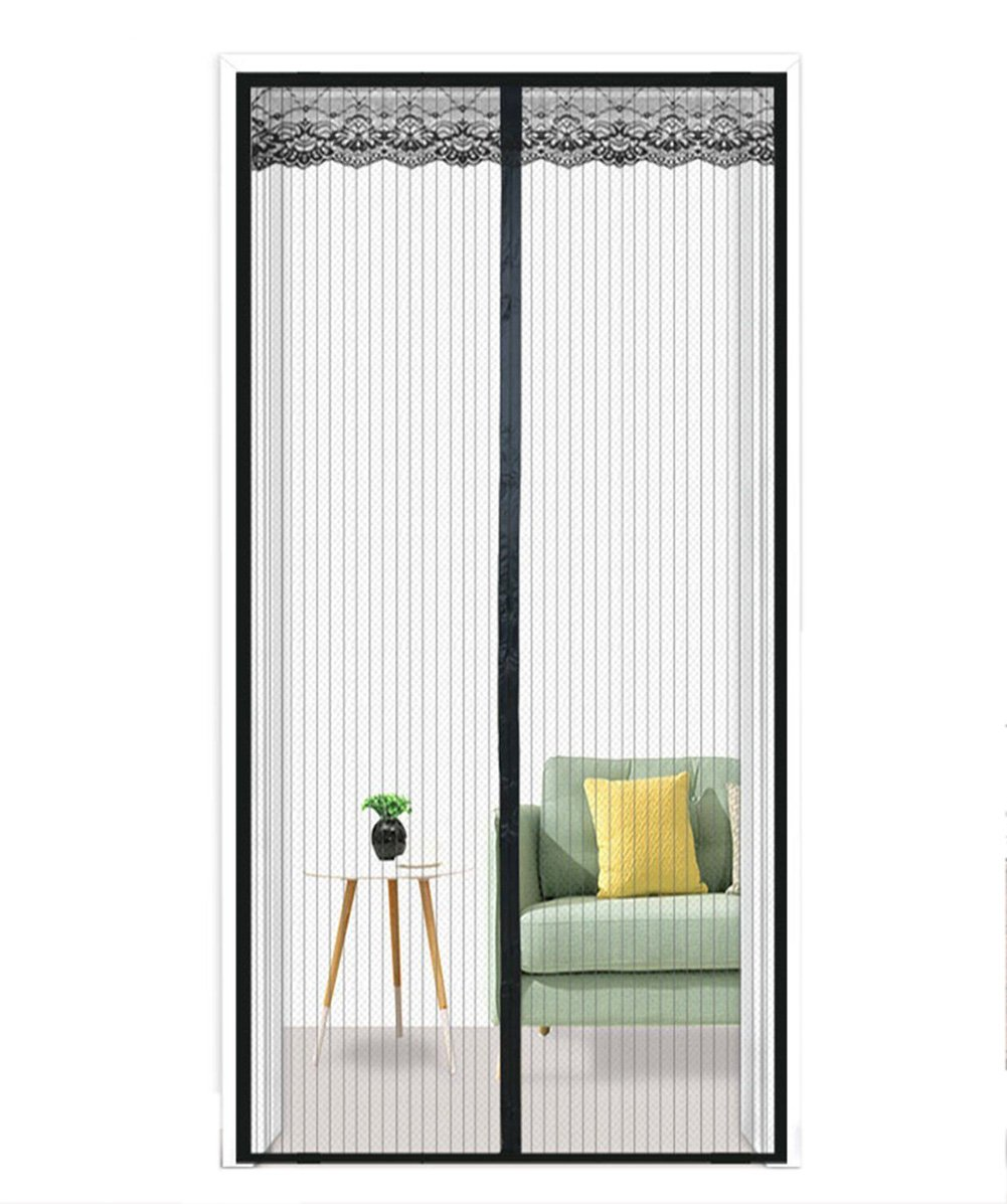 Mesh Curtain Fits Door Up to 90 x 210cm Door Mesh Fly Mosquito Curtain with Magnets /& Full Frame Velcro Keep Away from Mosquitoes Upscale Magnetic Fly Screen Door