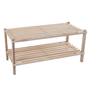 Lavish Home Holz Schuh Rack, Aufbewahrungsbank   Schrank, Badezimmer, Küche,