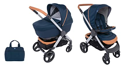 CHICCO 00079223440000 Duo Styl EGO Up Crossover (Sport carro + capazo), Azul