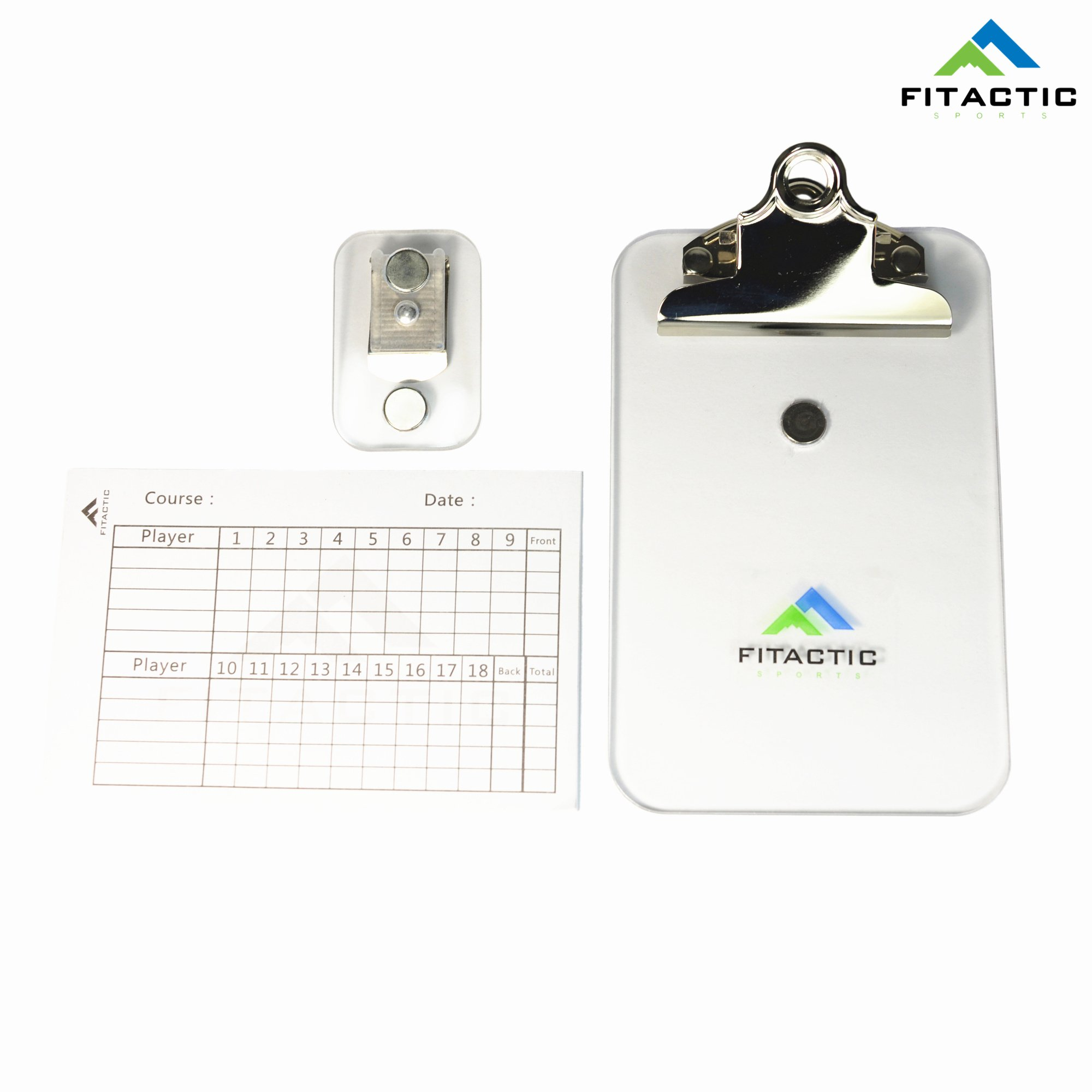 FITactic Magnetic Detachable Golf Scoreboard Clipboard Scorecard Holder with Score Sheet for Golf, Disc Golf, Frisbee by FITactic