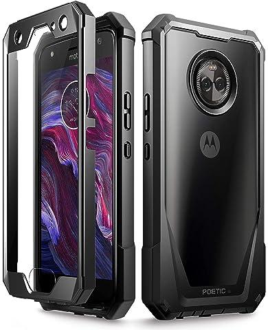 Amazon com: Moto X4 Rugged Case, Poetic Revolution [360