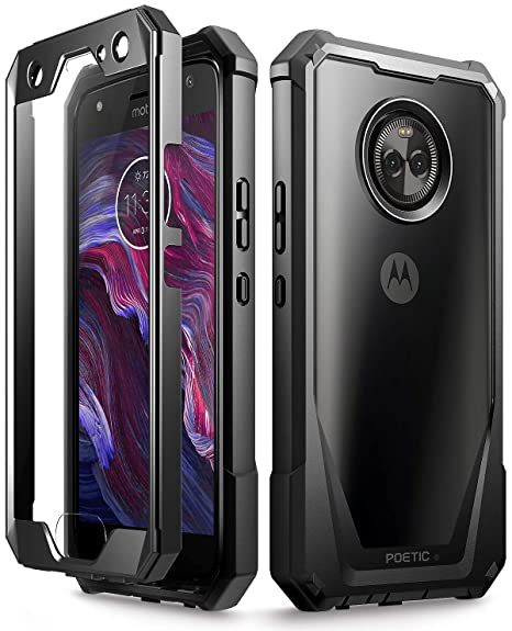 the best attitude 1fb7a 1c58d Moto X4 Case, Poetic Guardian [Scratch Resistant Back] Full-Body Rugged  Clear Hybrid Bumper Case with Built-in-Screen Protector for Motorola Moto  X4 ...