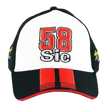 Marco Simoncelli 58 Moto GP Super Sic Baseball Gorra Oficial 2017: Amazon.es: Deportes y aire libre