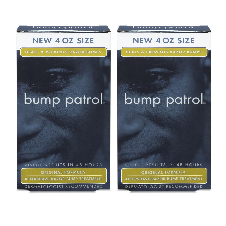 Bump Patrol Original Formula After Shave Bump Treatment Serum - Razor Bumps, Ingrown Hair Solution for Men and Women - 4 Ounces 2 Pack
