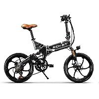 Unbekannt RICH BIT® RT 730 Electric Bike eBike Klapprad 250W 48V 8Ah Akku Shimano 7 Speed MTB City bike dirt bike scheibenbremsen set fahrrad reifen 20 Zoll