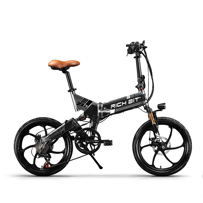 RICH BIT TP730折りたたみ電動アシスト自転車 LCD付き 20タイヤ シマノ7段変速 ミニタイプ 軽量 充電器付き B07BFSHMLY