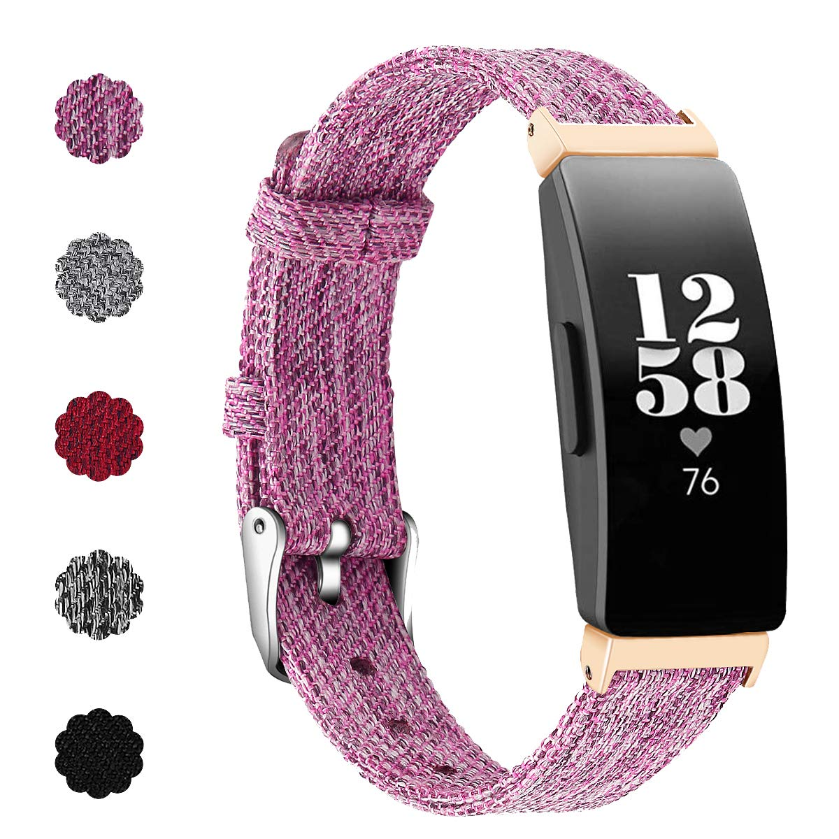 KIMILAR Compatible for Fitbit Inspire HR & Inspire Strap Bands Fabric, Replacement Nylon Band Soft Woven Wristband Bracelet for Fitbit Inspire & Inspire HR Fitness Tracker