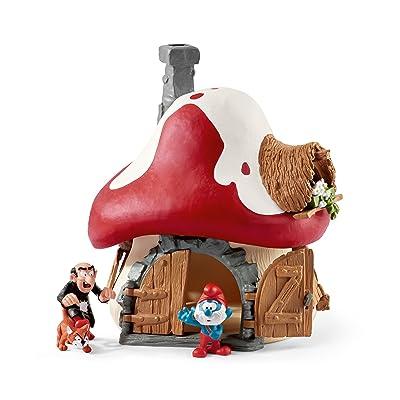 Smurf House with Papa Smurf, Gargamel & Azrael: Schleich: Toys & Games