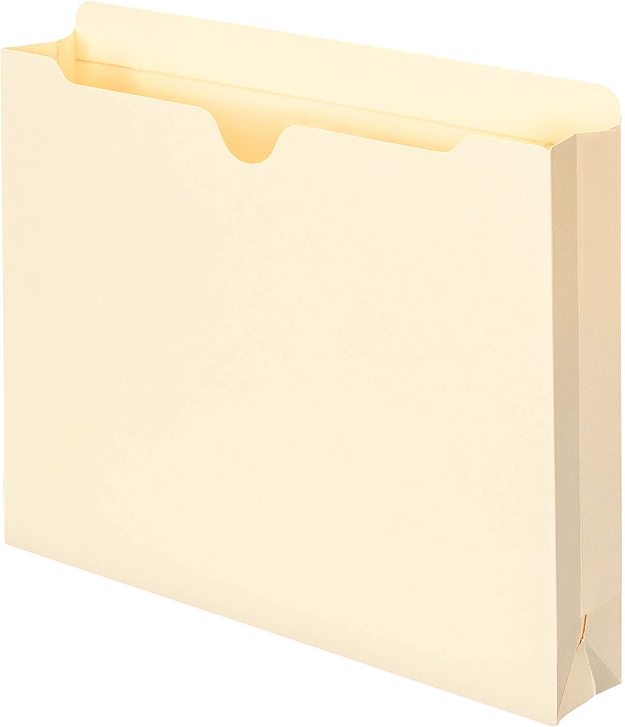 """Smead File Jacket, Reinforced Straight-Cut Tab, 2"""" Expansion, Letter Size, Manila, 50 Per Box (75560) : Top Tab File Jackets And Pockets : Office Products"""