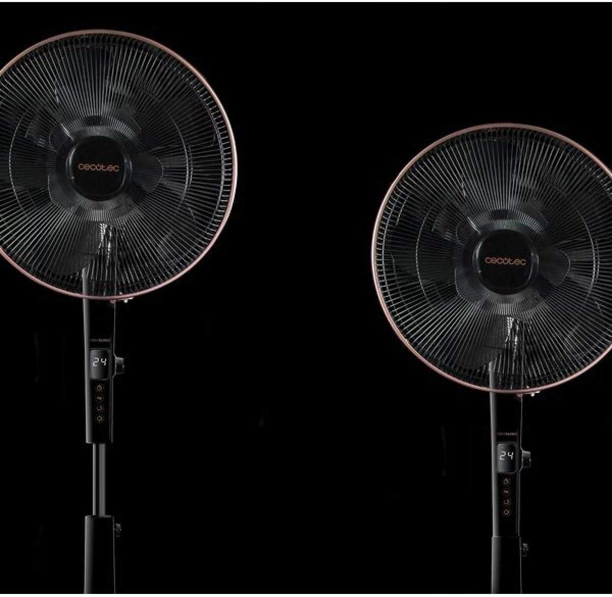 Minuterie de 15 heures T/él/écommande sans Fil 40 cm 60 W. de Diam/ètre 10 Pales de 16 Moteur en Cuivre Cecotec Ventilateur sur Pied ForceSilence 1010 ExtremConnected Oscillant 6 vitesses