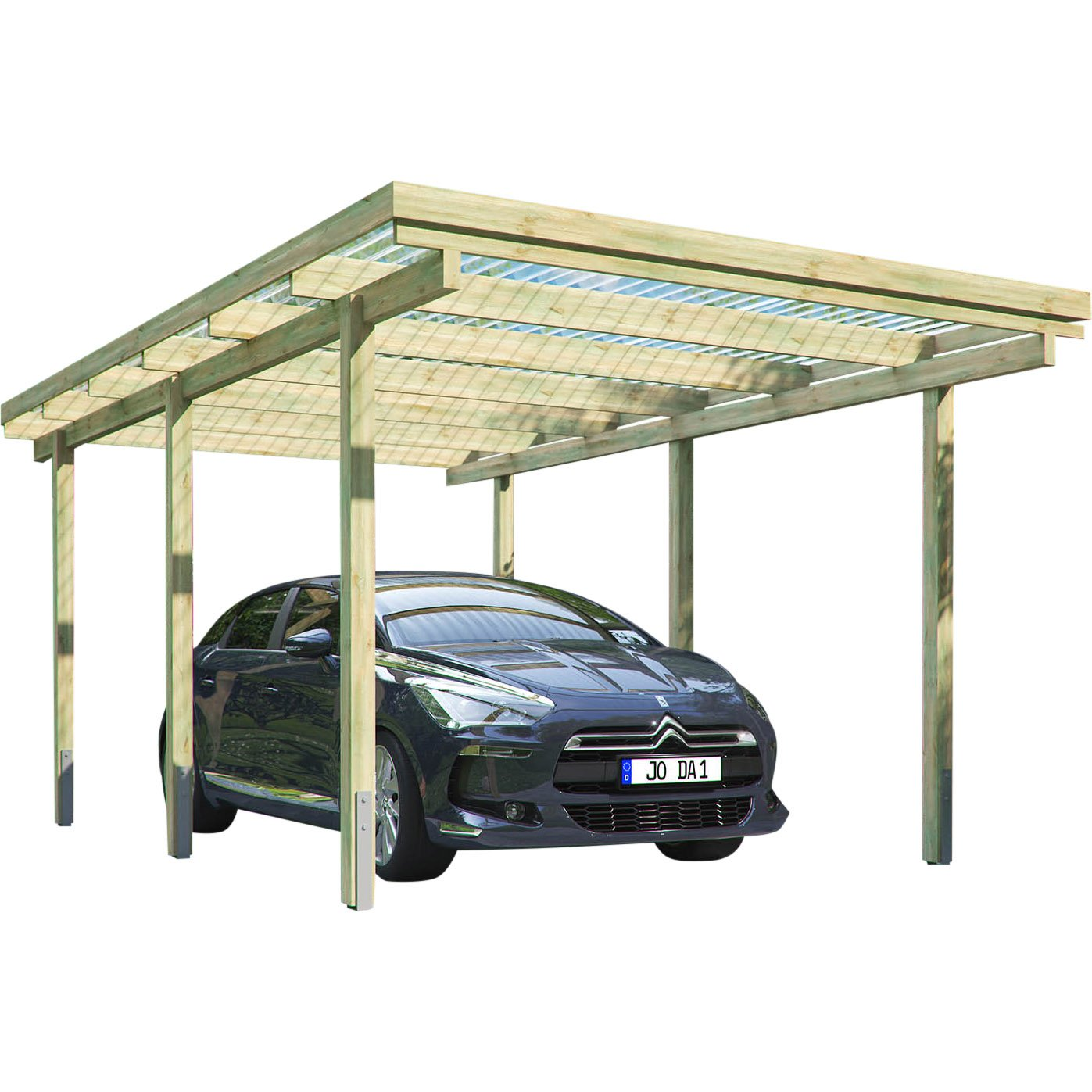 Carport Elbe X M Flachdach Garage Unterstand Holz Amazonde Garten With Car  Port
