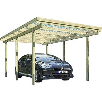 Bekannt Carport ELBE 1 Einzelcarport 3,04 x 5,10 m Flachdach Garage FR12