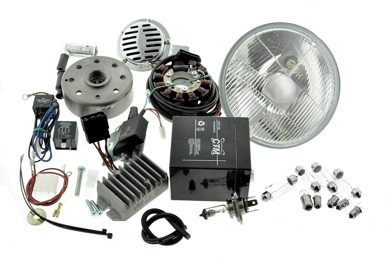 Umbausatz Z/ündung Vape f/ür MZ ES 125 150 komplett 12V mit Reflektor H4