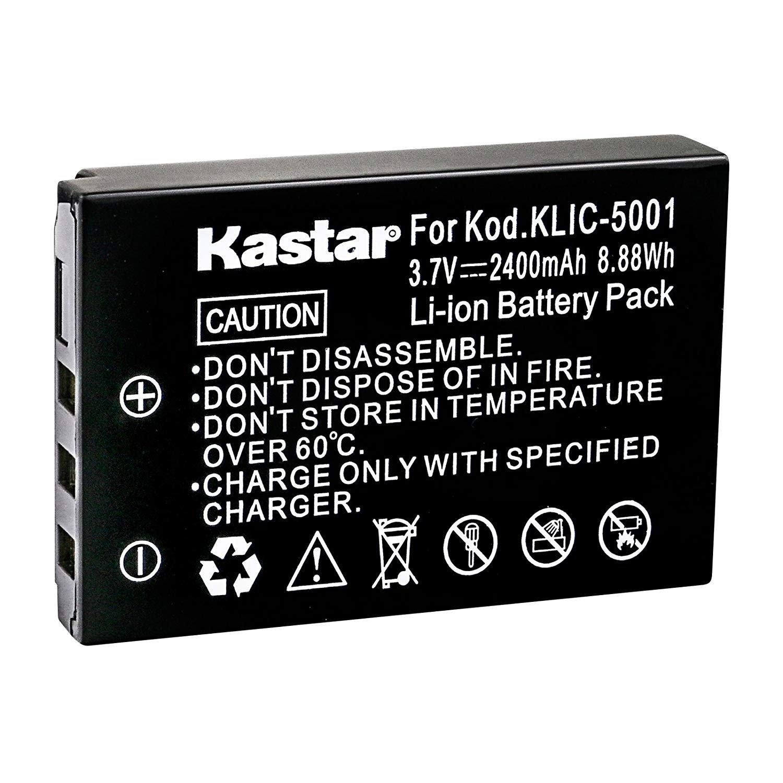 Kastar Rechargeable Battery K5001 Replacement for Kodak KLIC-5001 Battery and Kodak EasyShare DX6490 DX7440 DX7590 DX7630 P712 P850 P880 Z730 Z760 Z7590 Digital Cameras