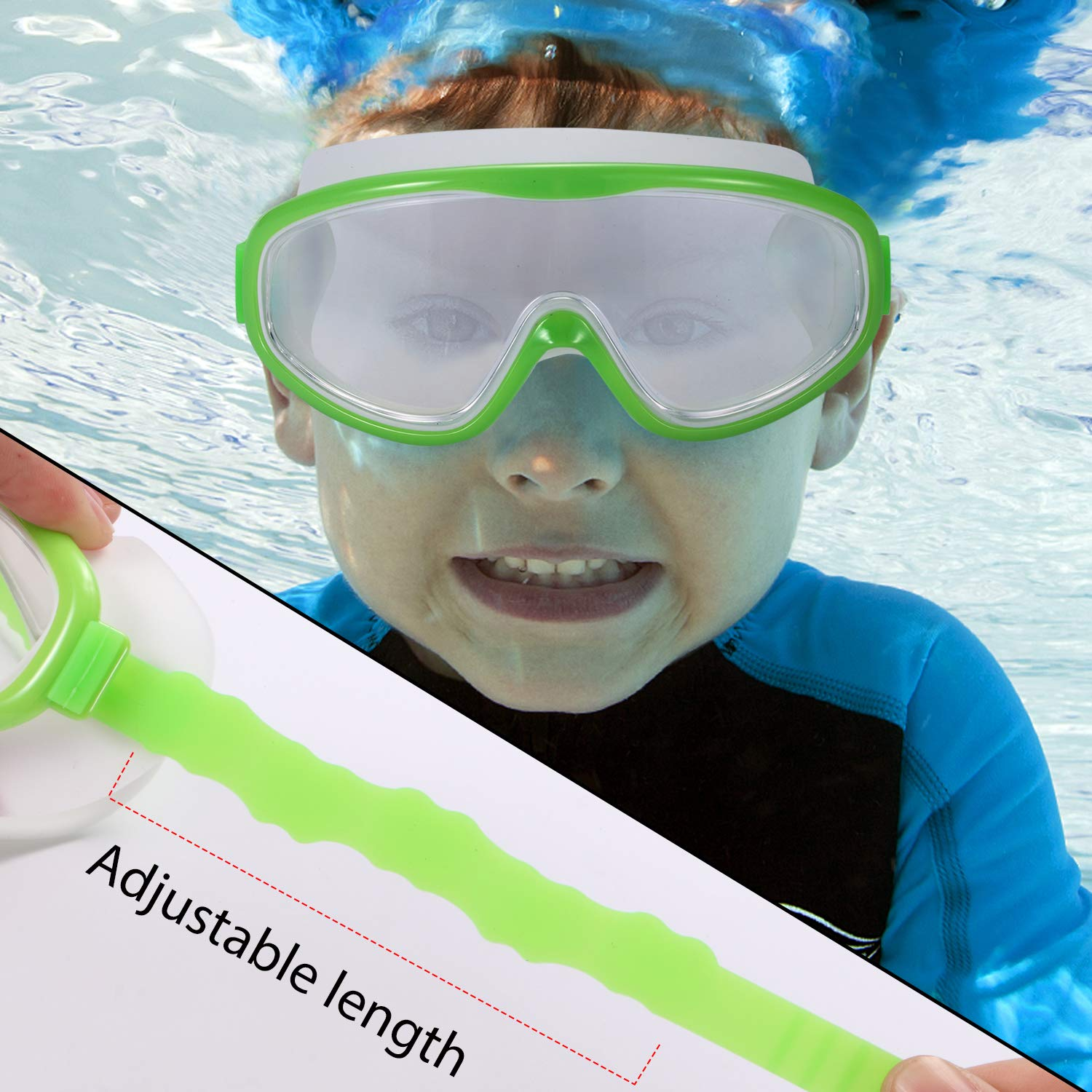 3dddecb34905 Wide Vision Swimming Glasses for Children and Early Teens from 3 to 15  Years Old UV ...