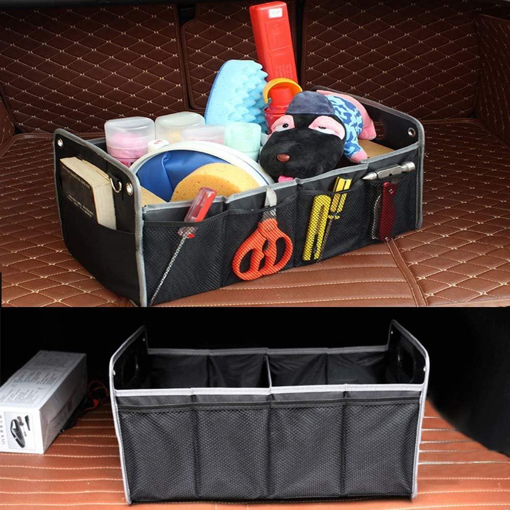 rutschhemmenden Wasserdicht Auto Aufbewahrungsbox//Multi Fach Stoff Kofferraum Ordentlich Taschen Bentu Auto Kofferraum Organizer schwarz