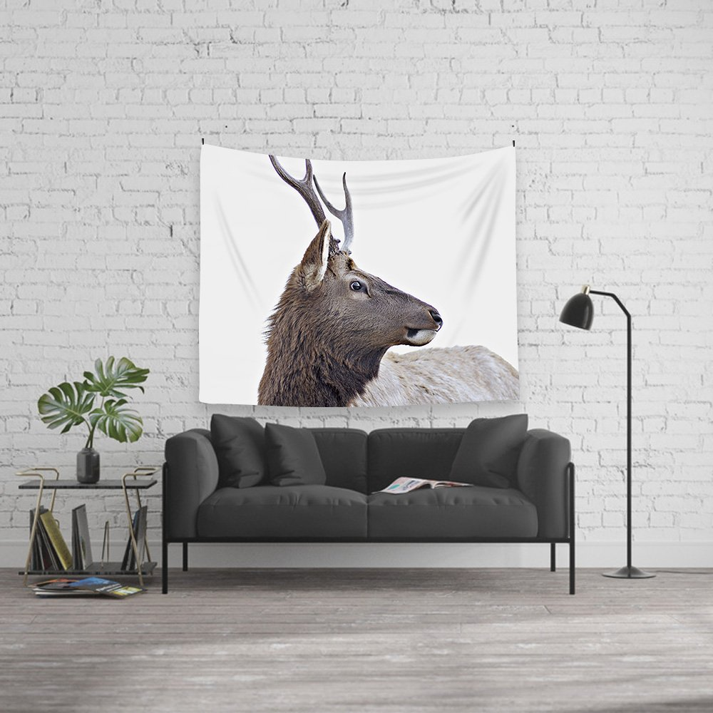 Deer Tapestry Wall Hanging Blanket Poster 59''x78.7'', Fabric Cloth Home Decor Modern Nordic Style by Orange Design (Image #2)