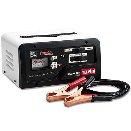 Telwin TE-807577 Cargador de Bateria, 600 W, 230 V, Rojo y negro