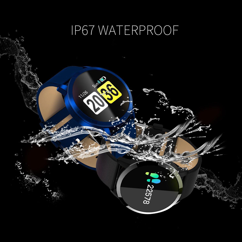 OUKITEL OLED Reloj Inteligente, Bluetooth Reloj de pulsera/Podómetro Analización/Seguimiento de sueño/Monitor de ritmo cardíaco/Seguimiento de la presión ...