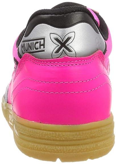 Amazon.com  MUNICH - Gresca 610 - Indoor Soccer   Futsal Shoe -  Fuchsia Black - 9.5  Sports   Outdoors a11ca929f9