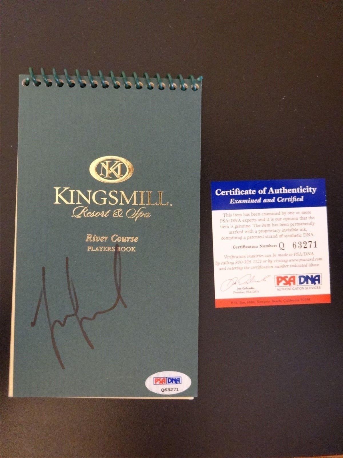 MICHELLE WIE SIGNED AUTO KINGSMILL PLAYERS BOOK PSA #Q63271 AUTOGRAPHED