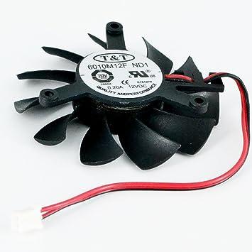 6010M12F ND1 12V 0.2A 55mm 2PIN Tarjeta grafica ventilador ...