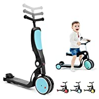 beberoad Kids Scooter, 2020 5-in-1 Kids Tricycles for 2-6 Years Old with Foldable Seat and Adjustable Height Handlebar, Lightweight Multi-Functional Boys and Girls Balance Bike