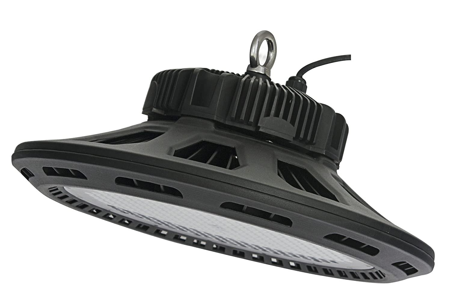 UL Listed 300W HPS//MH Bulbs Equivalent LED High Bay Lights 6000K Super Bright Commercial Lighting 18500lm Waterproof,CoolWhite CY LED 150W UFO LED High Bay Lighting