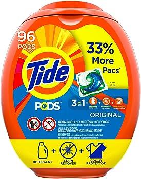 3-Pack Tide Pods 96-Count Liquid Laundry Detergent Pacs