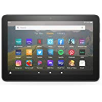 """Fire HD 8 tablet, 8"""" HD display, 32 GB, designed for portable entertainment, Black"""