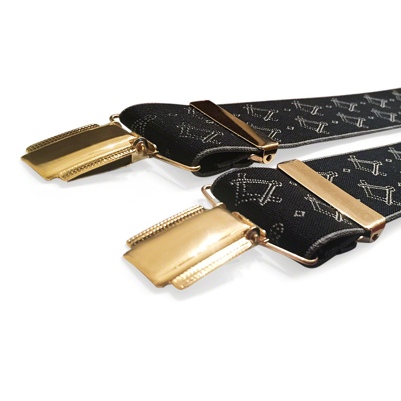 Masonic Bretelles de francs-ma/çons avec /équerre et compas ma/çonniques Gold Logo