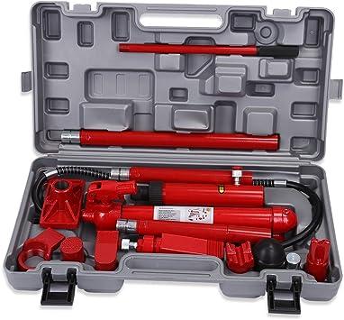 10 Ton Hydraulic Jack Body Porta Power Frame Repair Kit Auto Car Tool Amazon Co Uk Car Motorbike