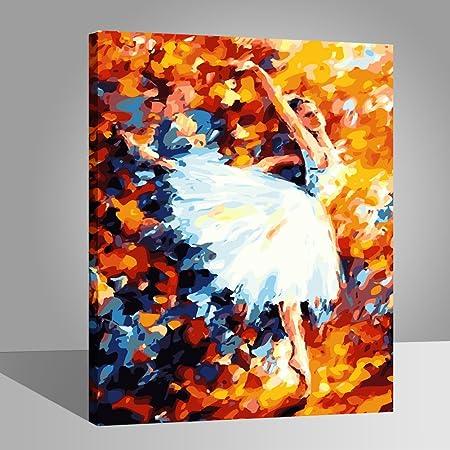 Peinture par Numero Kits avec Brosses et Peintures pour Adultes Enfants Seniors D/ébutant Acryliques Kits de Peinture sur Canevas Aigle 16 20 Pouces RIHE Cadre en Bois