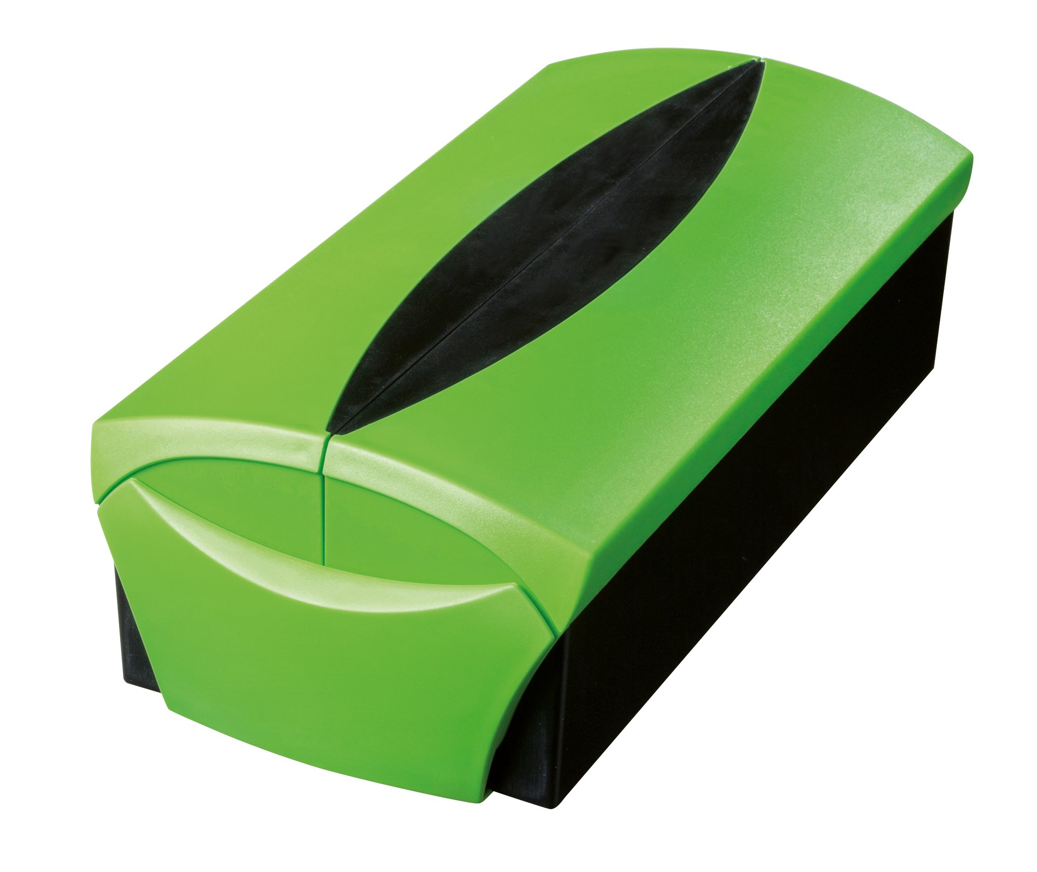 HAN 2000-90, Business Card Box VIP, Professional Box for 500 Business Cards. Finish, Supplied with Go-VIP case, tabs and Adjustable Index Card Support, New Colour Green-Black by HAN