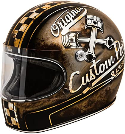 Premier Casco de moto TROPHY CARBON NX GOLD CHROMED, NegroOro, M