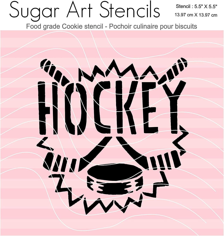 Hockey Cookie Stencil MY00192
