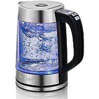 Doppelwandiger Glas Wasserkocher Elektrischer Wasserkessel mit präziser variabler Temperaturkontrolle und Warmhaltefunktion, 1.7L Schnellkocher mit automatischer Trockenschutzfunktion