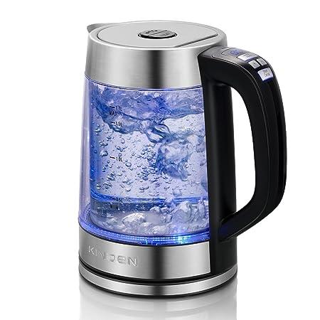 Doppelwandiger Glas Wasserkocher Elektrischer Wasserkessel mit präziser variabler Temperaturkontrolle und Warmhaltefunktion,