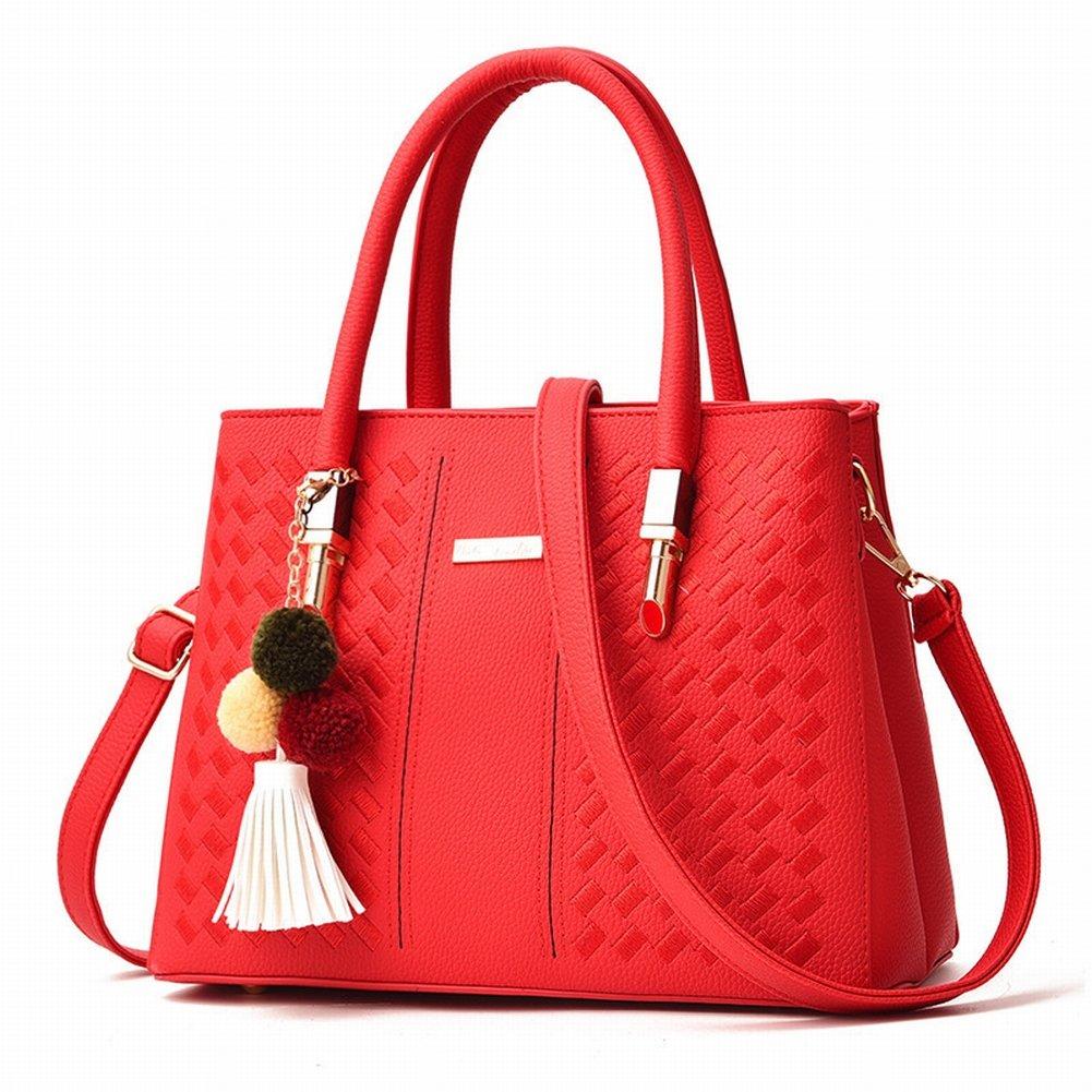 Haarballen Handtasche Weibliche Einfache und Modische Handtasche Diagonal Paket , Hellrot