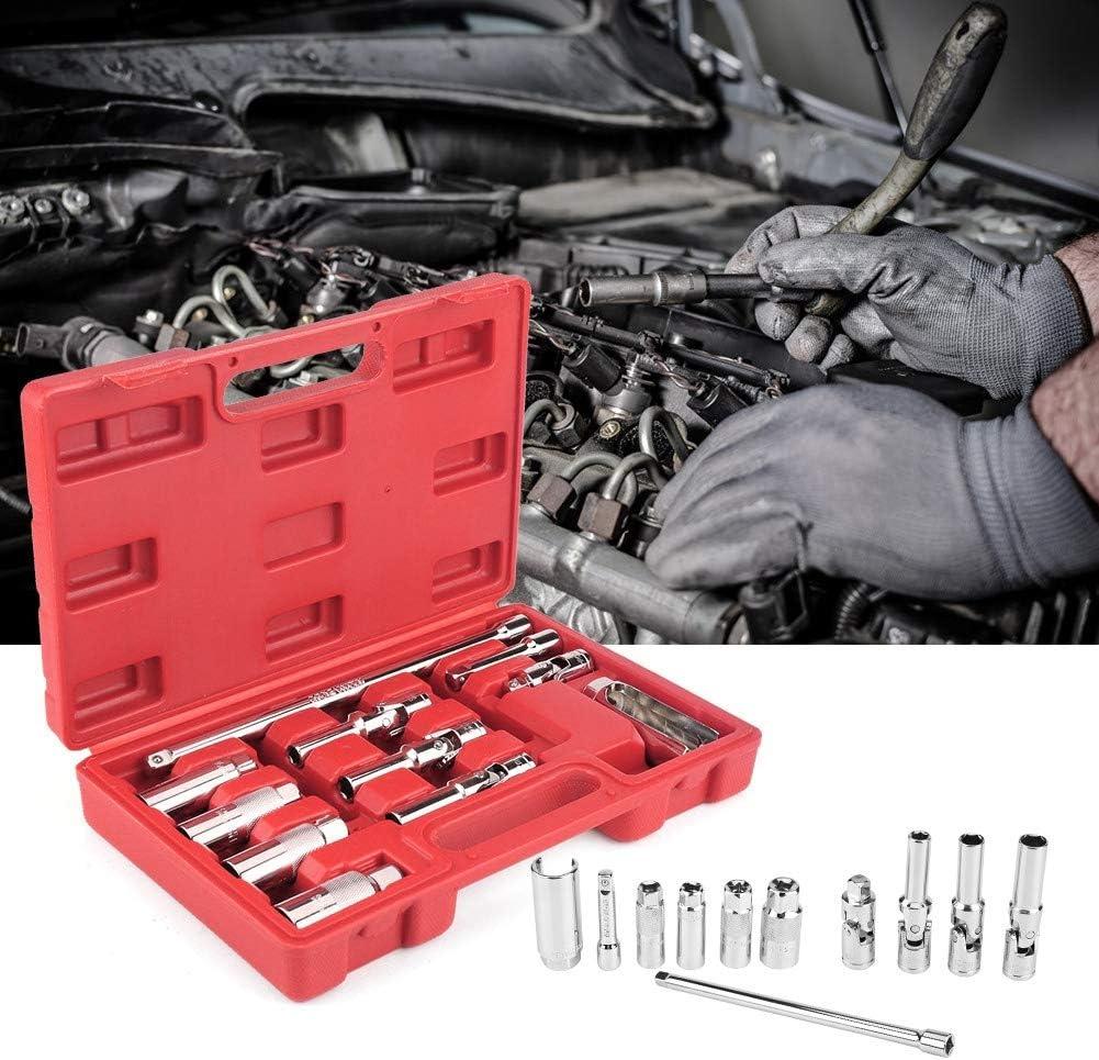 "11pcs//Set Bougie Glow Plug Socket Essence Diesel Removal//Installation Outils Filetage 3//8/"""