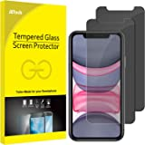 JETech Privacy Screen Protector for iPhone 11 and iPhone XR 6.1-Inch, Anti Spy Tempered Glass Film, 2-Pack