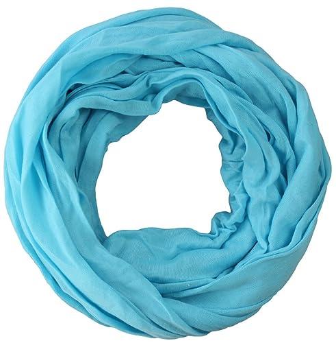 Tubo sciarpa extra lungo XXL da materiale morbido liscio in molti colori