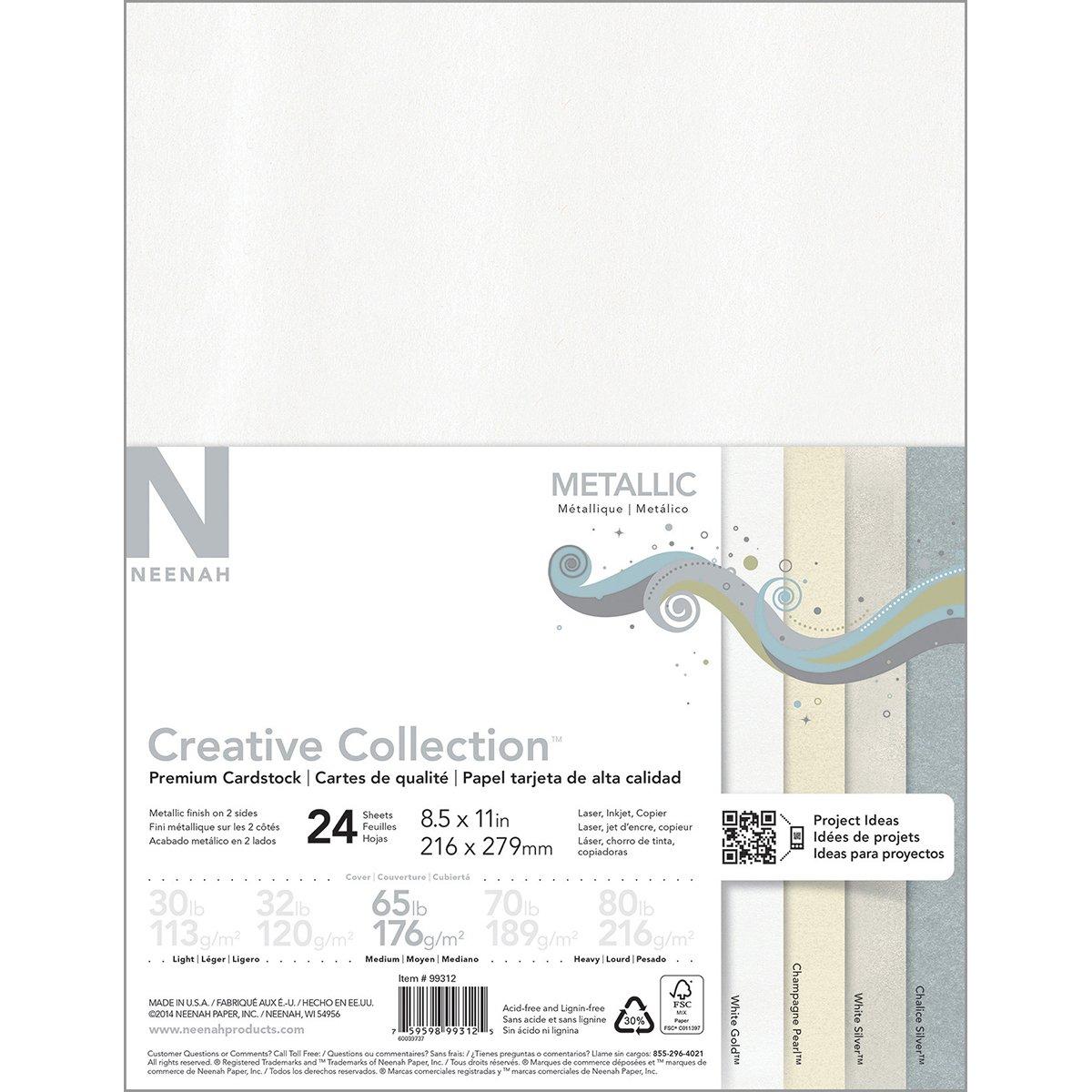 27.94/x 21.59/x 0.63/cm Cartone Neenah Paper Metallizzato