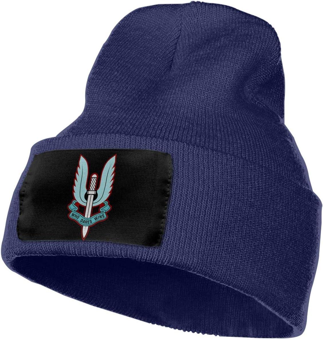 Special Air Service1 Men/&Women Warm Winter Knit Plain Beanie Hat Skull Cap Acrylic Knit Cuff Hat
