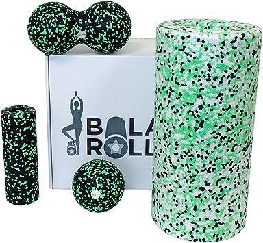Faszienrolle Balance Roll Massage Fitnessrolle Set 8 12 cm Blackroll Alternative