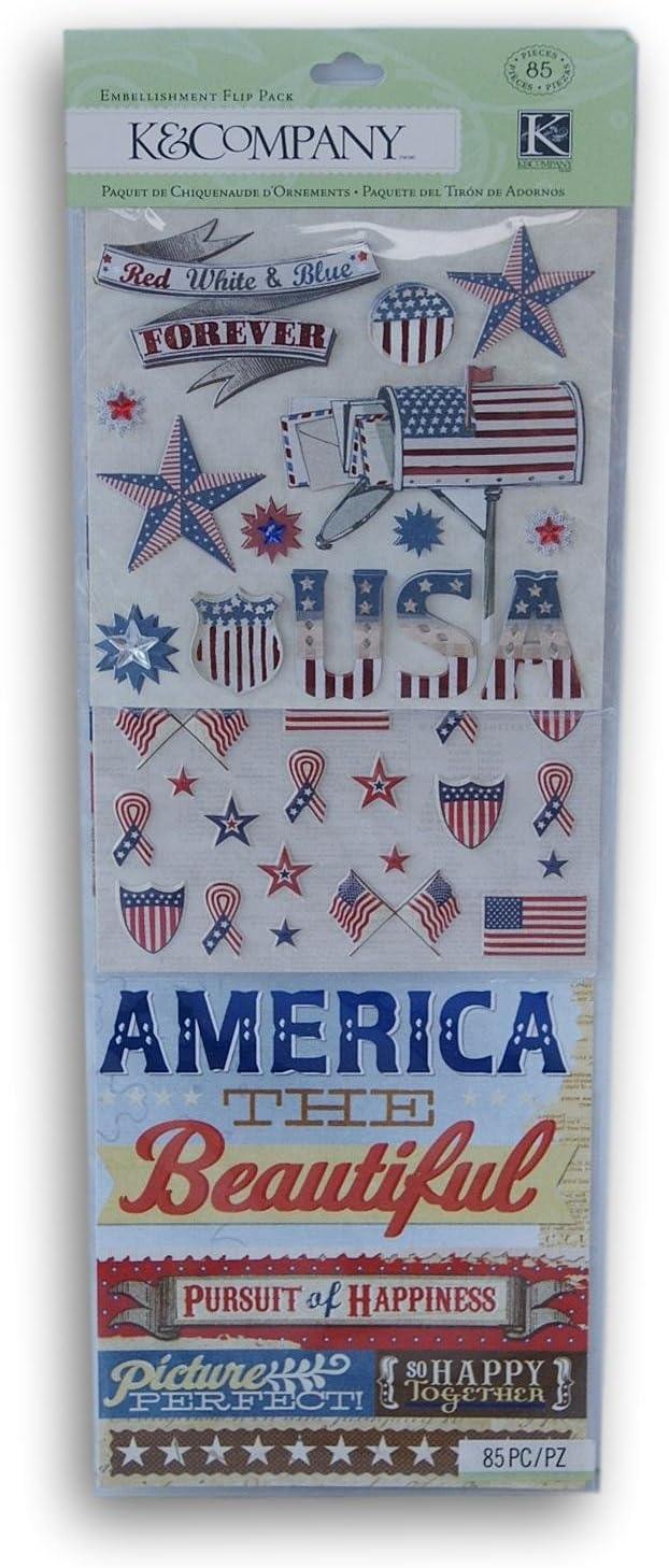 Americana Flip Pack Scrapbook Stickers (30-654327) by K&Company: Amazon.es: Hogar