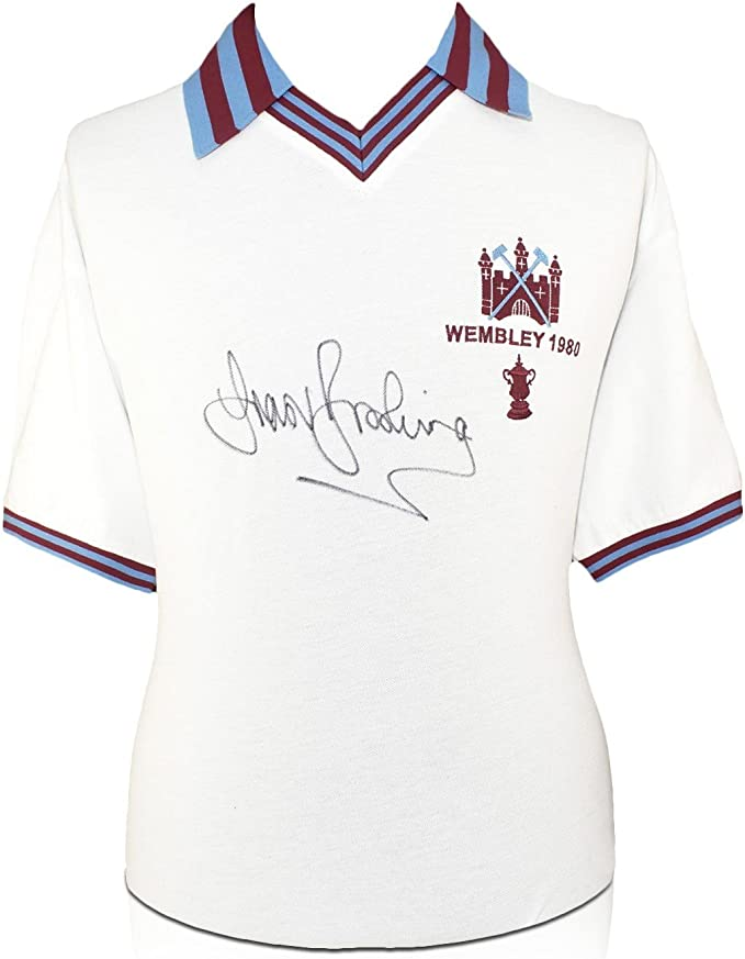 exclusivememorabilia.com Camiseta Final de la West Cup 1980 FA Cup firmada por Trevor Brooking: Amazon.es: Deportes y aire libre