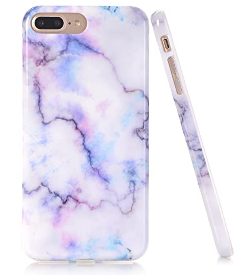 new arrival cadc6 6d36b iPhone 7 Plus Case, White Colorful Marble Creative Design, BAISRKE Slim  Flexible Soft Silicone Bumper Shockproof Gel TPU Rubber Glossy Skin Cover  Case ...
