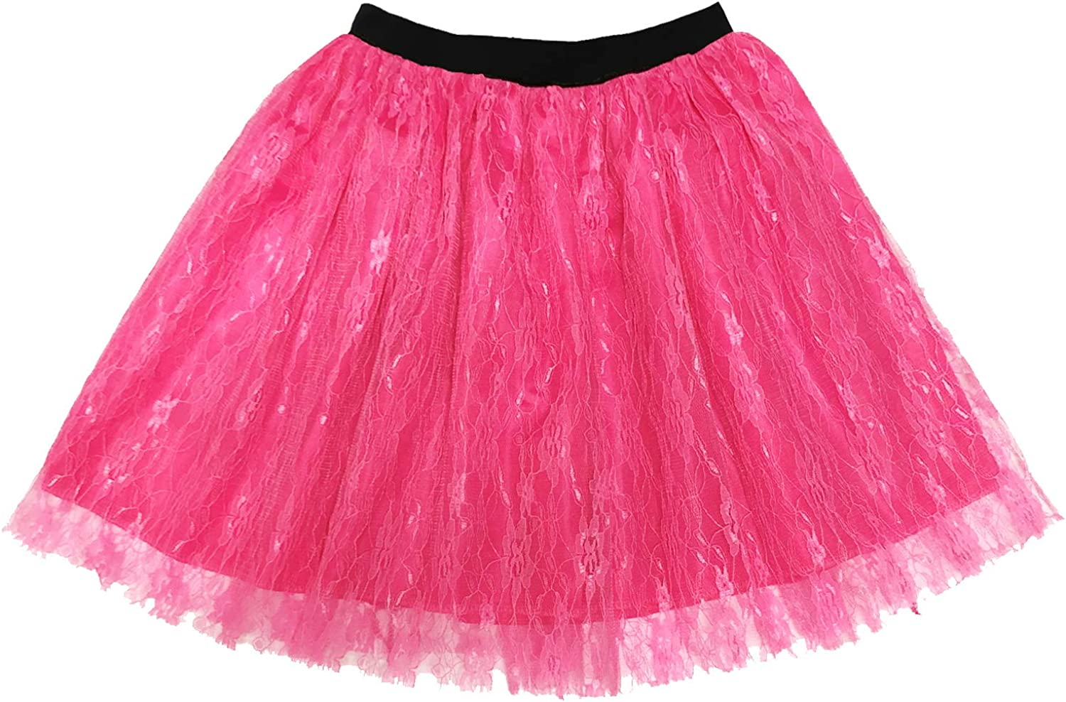 80s Outfits Costume Accessories for Women,Pink Lips Print Off Shoulder T-Shirt Lace Skirt for 80s Costumes