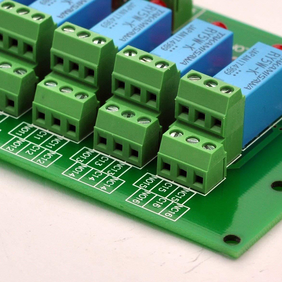 CC 5 V Version Electronics-Salon 8 Signal Module relais DPDT Planche pour pic Arduino 8051 MCU AVR.